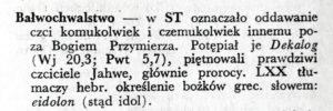 Słownikowe bałwochwalstwo
